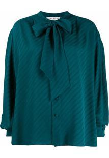 Givenchy Blusa Com Mangas Bufantes - Azul