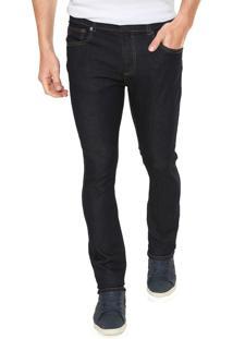 Calça Jeans Lacoste Slim Fit Azul