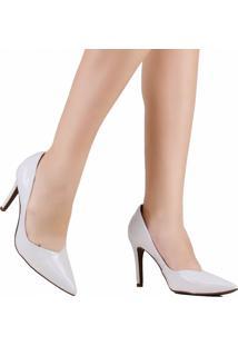 Sapato Scarpin Zariff Bico Fino Branco