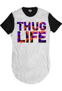 Camiseta Longline Thug Life Purple Masculina - Masculino