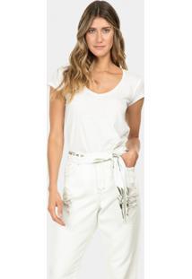 Calça Jeans Nice Com Cinto Branco Off White - Lez A Lez