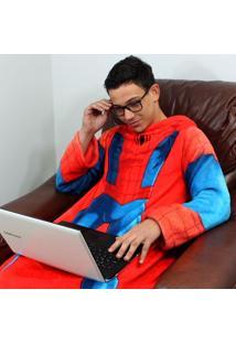 Cobertor Com Mangas Infantil Homem Aranha