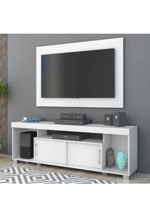 Rack Com Painel Para Tv 2 Portas Pierre 704002 Branco - Madetec