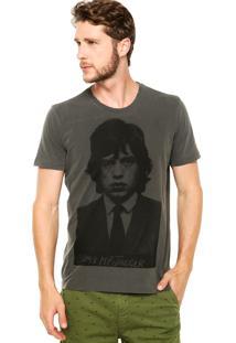 Camiseta Ellus Rolling Stones Cinza