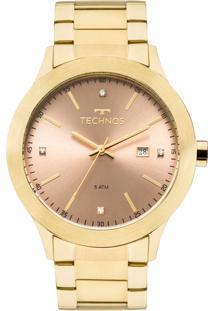 Kit Relógio Technos Feminino Com Colar E Brincos 2115Mkr/4T