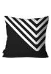 Capa Para Almofada Abstrato 45X45Cm Preto