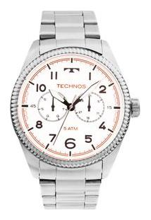 Relógio Technos Golf 6P25Bk/1B Prata 6P25Bk/1B