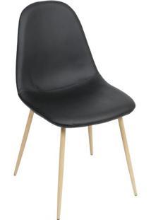 Cadeira Eames Charla Pu- Preta- 85,5X45X40Cm- Oror Design