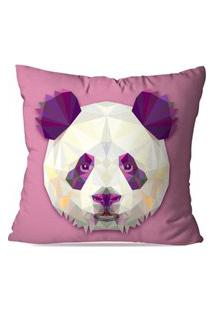 Capa De Almofada Avulsa Decorativa Panda Geométrico 35X35Cm