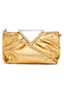 Bolsa Feminina Clutch Billy - Dourado