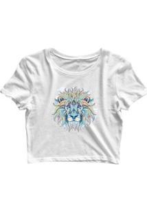 Blusa Feminina Cropped Tshirt Goup Girls Leão Color - Feminino