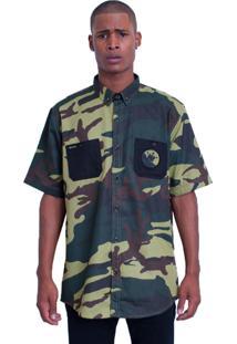 Camisa Stooge Workhorse Stg 13 Camuflada Verde