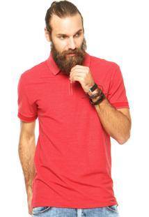 Camisa Polo Sommer Zíper Vermelha