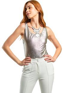 Body Mx Fashion Metalizado Ravy Prata
