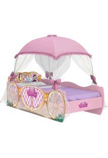 Cama Princesas Disney Star C/ Dorsel Rosa Pura Magia