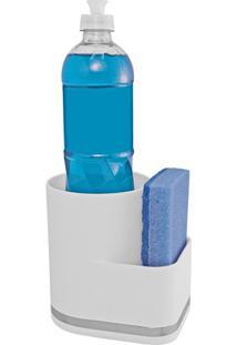 Organizador De Pia Em Plástico Eleganza Branco