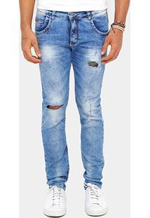 Calça Jeans Skinny Zune Stone Puidos Masculina - Masculino