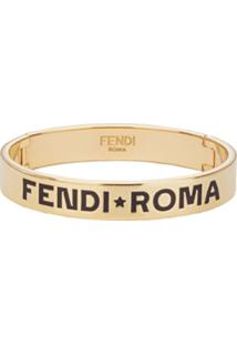 Fendi Pulseira Fendi Roma - Dourado