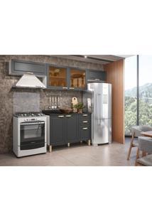 Cozinha Compacta Nevada Iii 6 Pt 3 Gv Grafite E Branca
