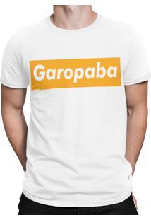 Camiseta Artseries Praia De Garopaba Santa Catarina Branco