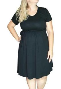 Vestido Linda Gestante Plus Size Básico Feminino - Feminino