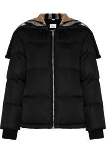 Burberry Seafield Vintage Check Fleece Jacket - Preto