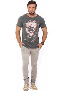 Camiseta Wolke Gola Careca Statue 3D