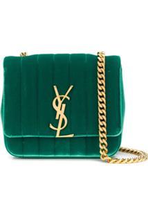 Saint Laurent Bolsa Transversal 'Vicky' - Verde