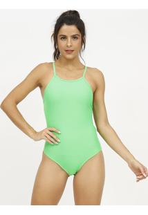 Body Com Tiras- Verde Neon- Patrapatra