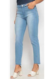 Jeans Reto Com Pespontos- Azul Claro- Heringhering