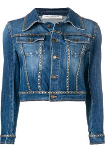 Philosophy Di Lorenzo Serafini Jaqueta Jeans Com Tachas - Azul