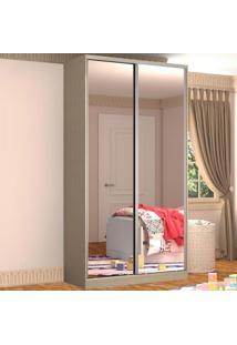 Guarda-Roupa Solteiro 2 Portas Correr 2 Espelhos 100% Mdf Rc2005 Noce - Nova Mobile
