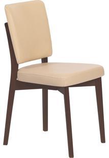 Cadeira Estofada Tramontina 14200/431 Berlim Madeira Tabaco/Bege