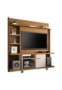 Estante Home New Taurus Para Tv Até 47 Pole 1 Porta Cinamomo E Off White Bechara