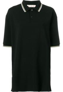 Marni Camisa Polo Oversized - Preto
