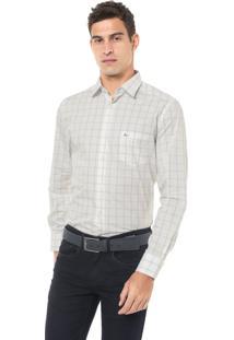 Camisa Aramis Reta Xadrez Off-White/Azul