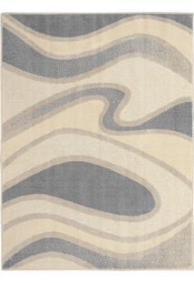 Tapete Art Design- Cinza & Off White- 200X150Cm-Tapete São Carlos