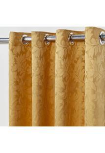 Cortina Em Tecido Jacquard 4,00 M X 2,70 M - Dourado - Multicolorido - Dafiti