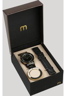Relógio Analógico Mondaine Troca Pulseira Feminino - 99265Lpmvpe2 Preto - Único