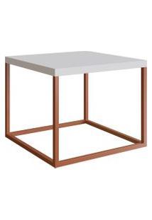Mesa Para Sala De Estar Artesano Cube P 32.5Cm Branco