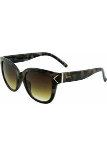 Óculos De Sol Hots Vc 1022 C01 Onça Escuro