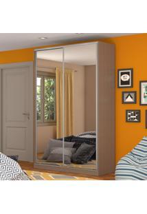 Guarda-Roupa Solteiro 2 Portas Correr 2 Espelhos 100% Mdf Rc2004 Ocre - Nova Mobile
