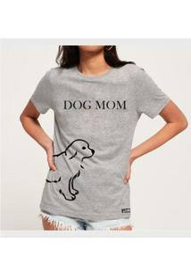 Camiseta Dog Mom Namorados - Buddies Feminina - Feminino-Mescla
