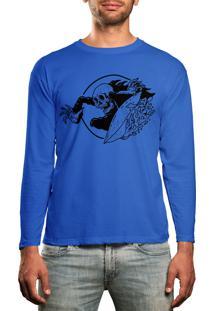 Camiseta Manga Longa Slave Azul Turquesa