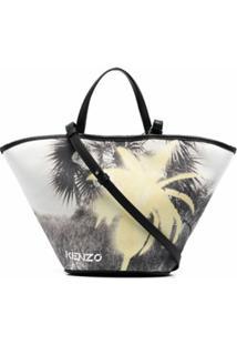 Kenzo Bolsa Tote Com Estampa Gráfica - Amarelo
