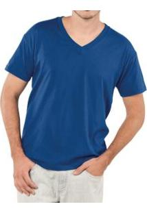 Camiseta Masculina Gola V Sulfabril (T1477) 100% Algodão