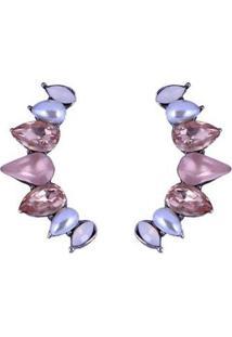 Brinco Armazem Rr Bijoux Ear Cuff Mini Gotas Feminino - Feminino-Rosa