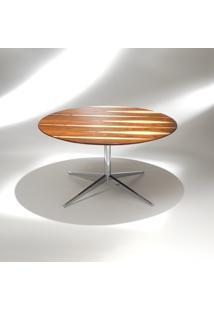 Mesa De Jantar Fk2 Redonda Alumínio Studio Mais Design By Florence Knoll