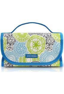 Necessaire Jacki Design Rocambole 4 Compartimentos Feminina - Feminino-Azul