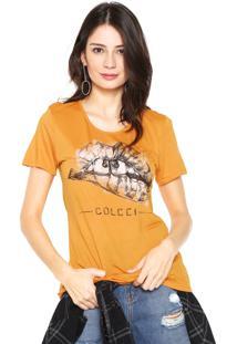 Camiseta Colcci Slim Amarela